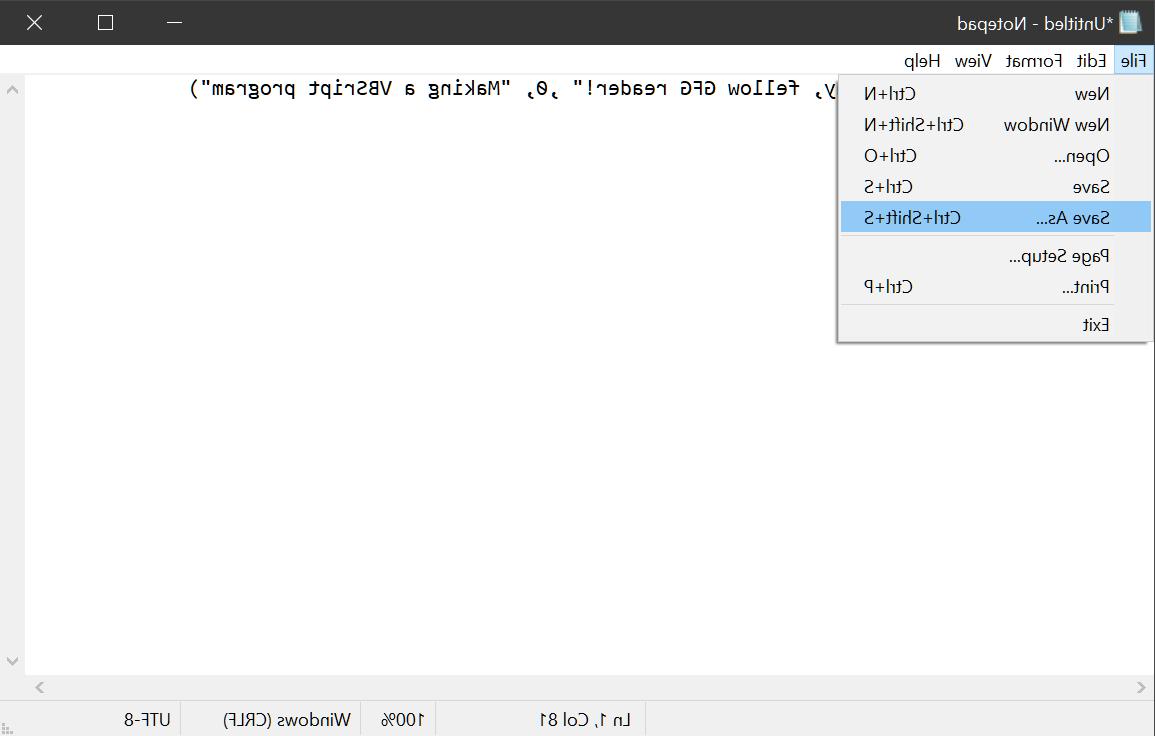 Where do I put VBScript code?
